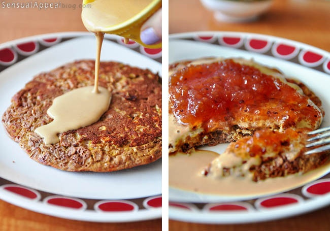 Oatmeal Protein Pancake with a hint of chocolate