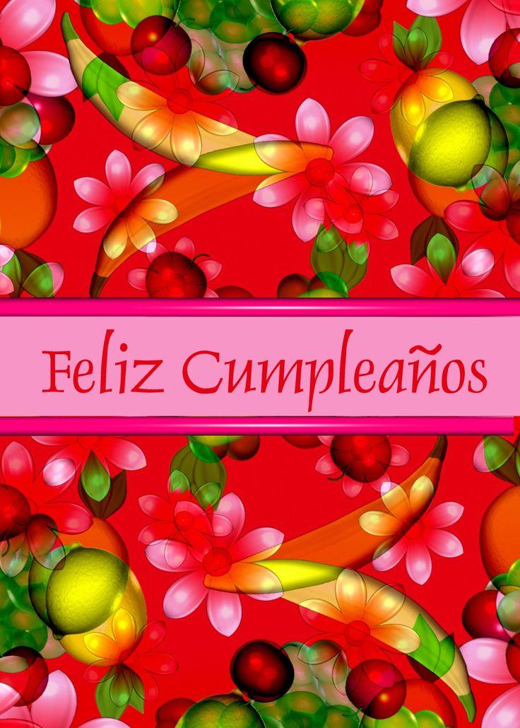 Feliz Cumplea Os Spanish Happy Birthday Card Pinterest