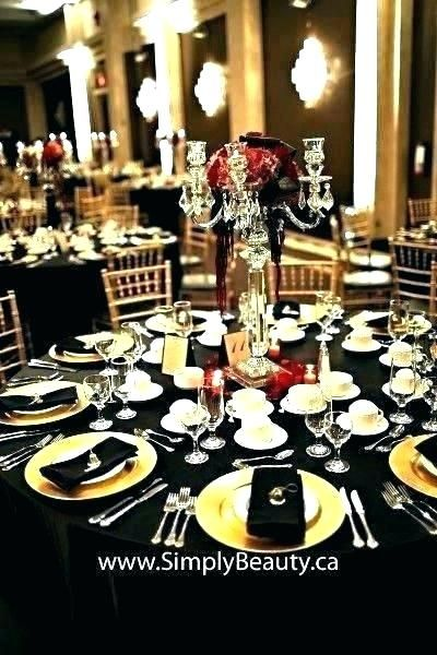 Easy red and black wedding centerpieces images  – Interiorku