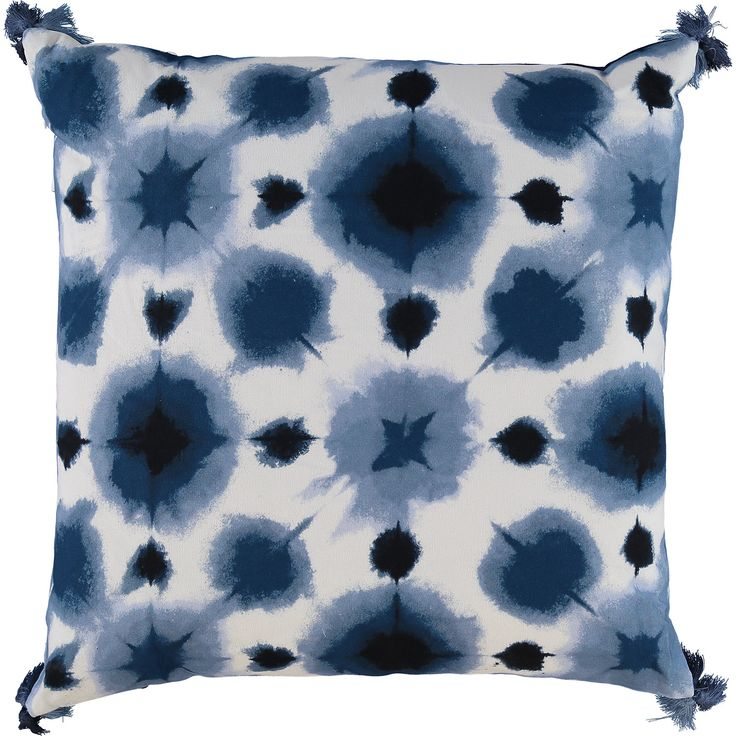 """Artistic Accents"" Blue & White Tie Dye Cushion 50x50cm - TK Maxx"