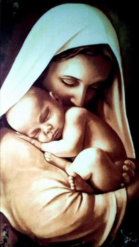 This is such a beautiful picture of our blessed mother and our Lord Jesus.