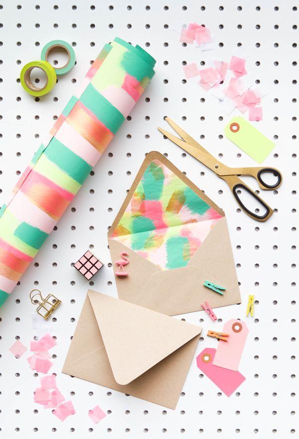 Fancy Envelope Liners DIY