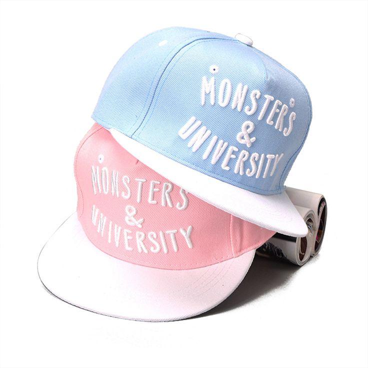2017 Baseball Cap Monsters University K-pop Polo Drake Bones Dad Snapback Hip Hop Flat Polo Hat Casquette For Men Women Gorras