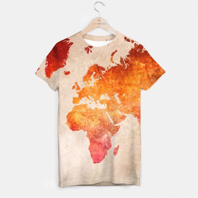 world map red Koszulka
