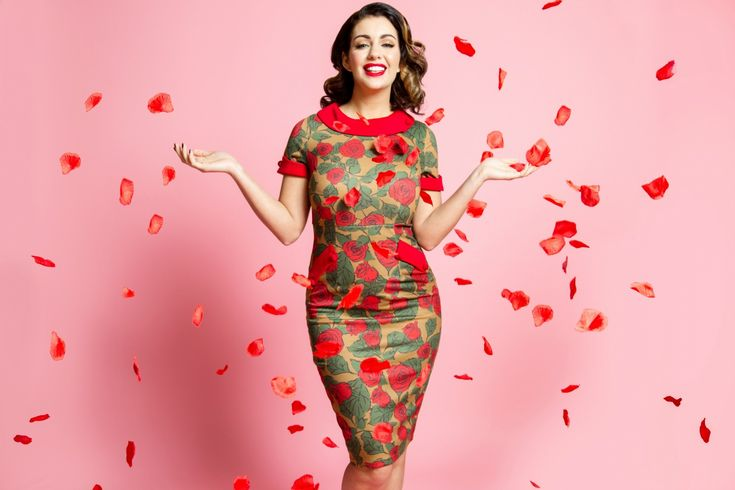 Valentines/ Lindy Bop/ 2018 Photographer: Sophie Lickiss/ Stylist: Bethany Cookson/ MUA Baberska.muah/ Model: Holly Jade Peers #valentines #lindybop #1950s #roses #pink #love #fifites #red #heartballoons #vintage #retro
