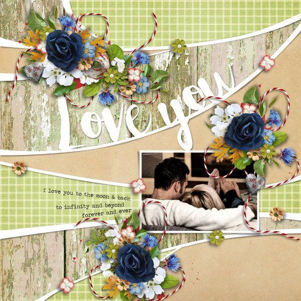 Template i heart you #8 by Heartstrings Scrap Art. Kit Apple Season by Raspberry Road Designs.