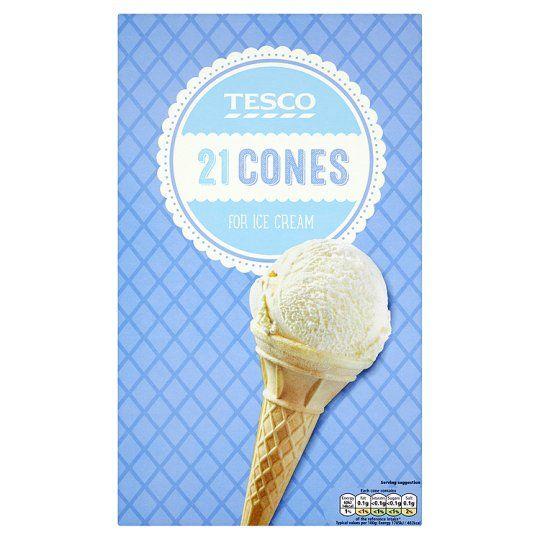 Tesco Ice Cream Cones 21 Pack