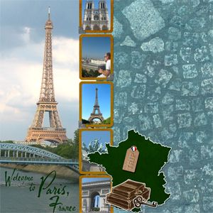 scrapbook page layouts for paris - Google Search