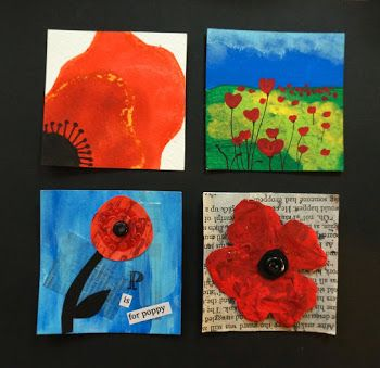 Poppy Inchies (Litgram: This inspires me to do a triptych of very close, standing, and far away for observational painting.)