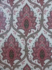 vintage medaillon behang rood groen
