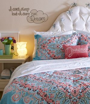 Sleep Dream Wall Decal and bedding - Bethany Mota Room Collection