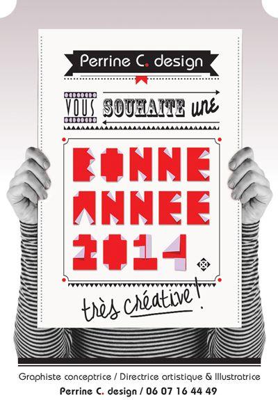 Perrine C. design // Carte de voeux / 2014