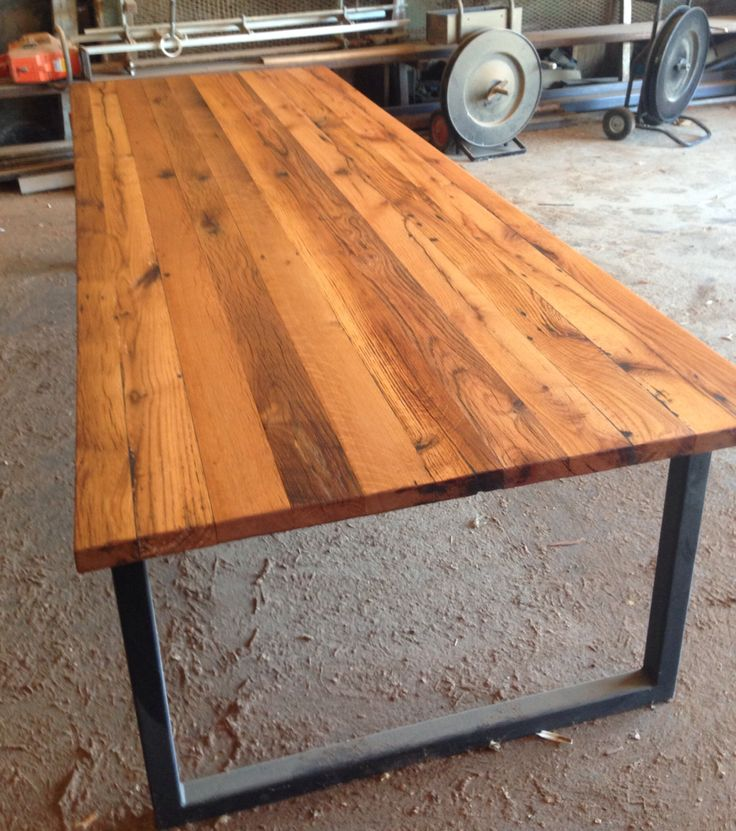 Attractive Reclaimed Wood Community Table Ca