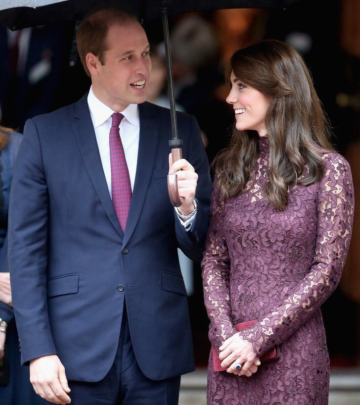 The duo kept close under an umbrella during an October event in | 23 of the Sweetest Kate Middleton and Prince William Snaps From This Year | POPSUGAR Celebrity Photo 1