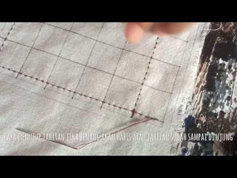 sashiko basic  tutorial -  simple square - YouTube