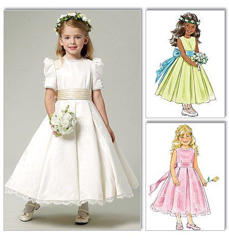 Butterick 5705 from Butterick patterns is a Children's/Girls' Dress and Cummerbund sewing pattern
