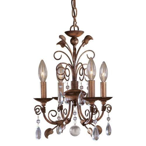 minka lavery ml 4 light 1 tier mini crystal chandelier from the mini chandeliers collection