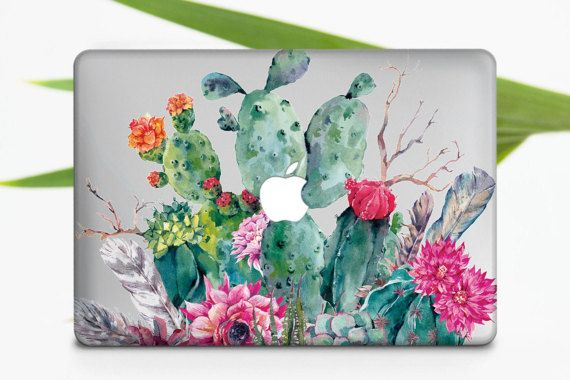 Tropical Apple Macbook Air Case Cactus Laptop Hard Cover