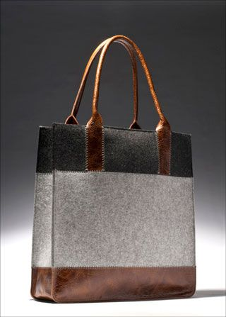 Graf-Lantz wool felt and leather tote love