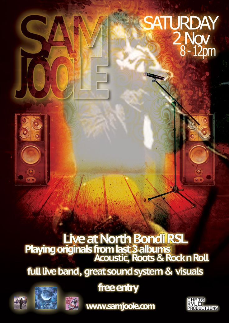 Talented local Bondi Musician - Sam Joole and his band