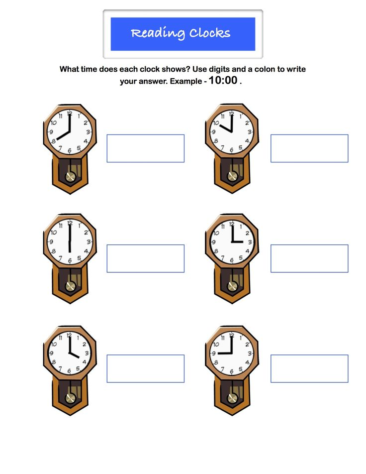 Worksheet Reading Clocks Learn to read a clock by the