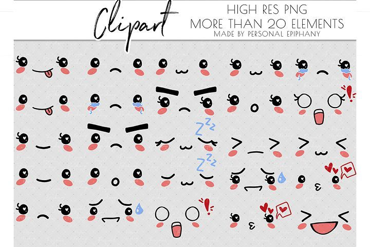 Emoji Clipart Emoticons Clipart Cute Face Mood Tracker In 2020