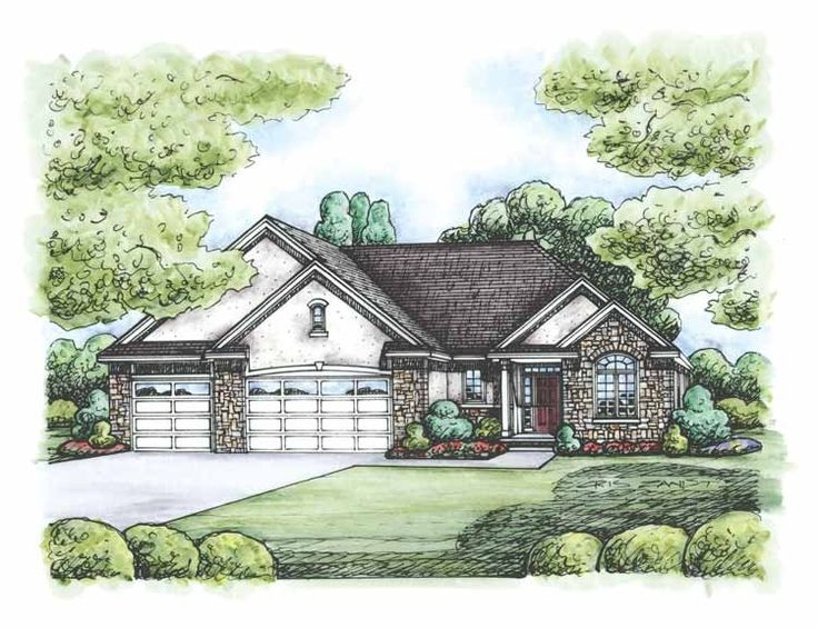 french country style house plans 2083 square foot home 1 story 2 bedroom and 2 3 bath 3 garage stalls by monster house plans plan