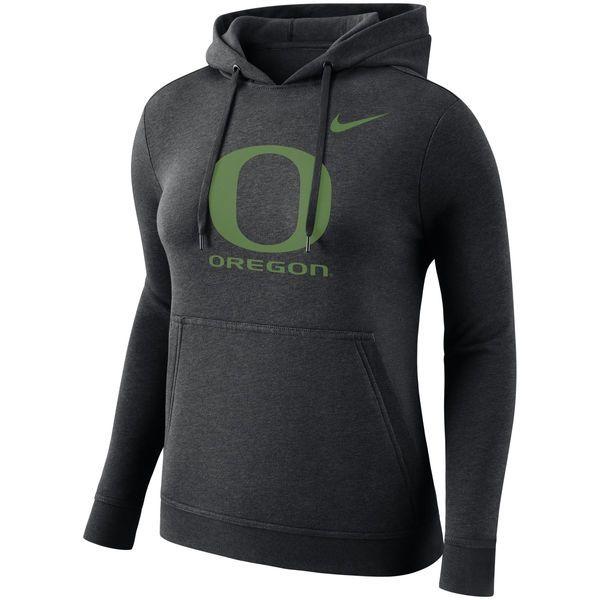 Oregon Ducks Nike Women's Club Pullover Hoodie - Black
