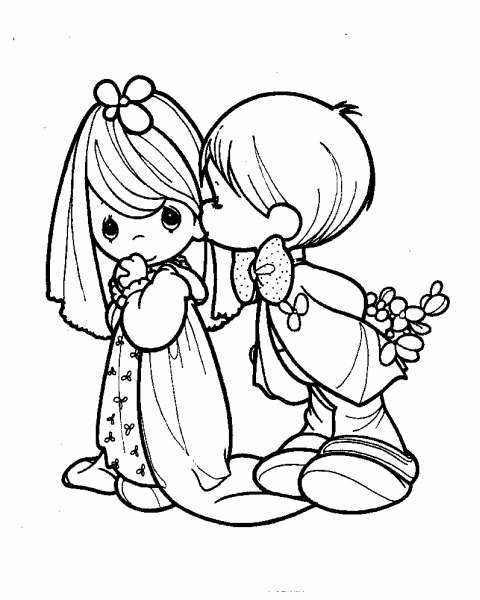 Precious Moments wedding couple | coloring pages | Pinterest