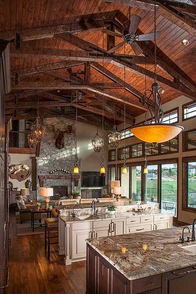 Great kitchen on plan 95012RW. Mountain Living