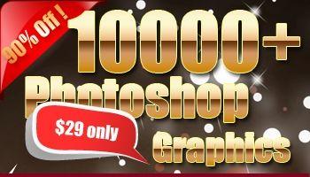 10000 Photoshop Graphics Elements