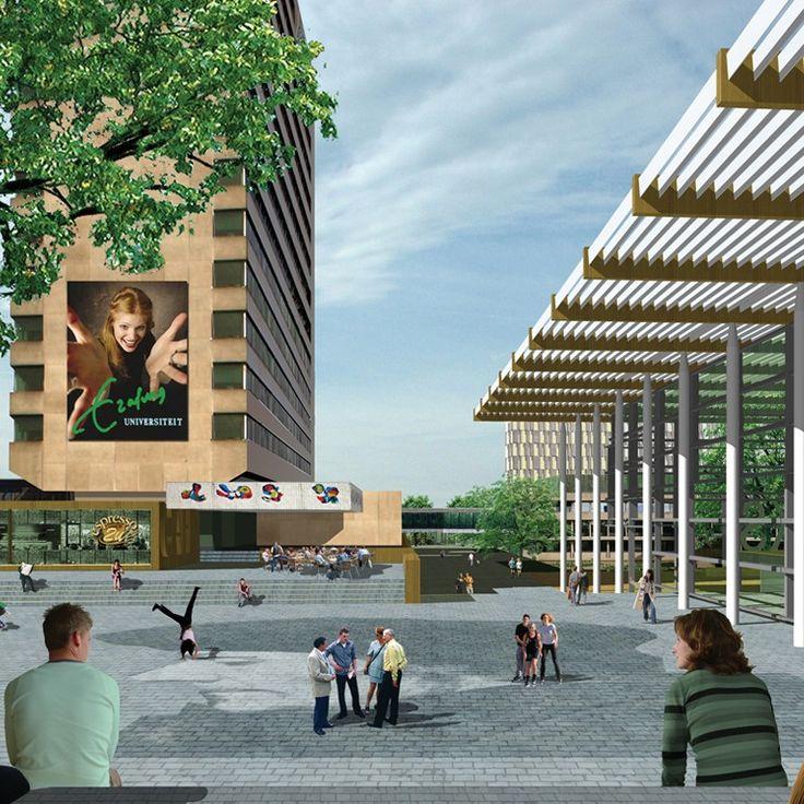 Besloten prijsvraag 'Een nieuw hart voor de Woudestein Campus', i.o.v. Erasmus Universiteit Rotterdam (2007 gedeelde 1e prijs)