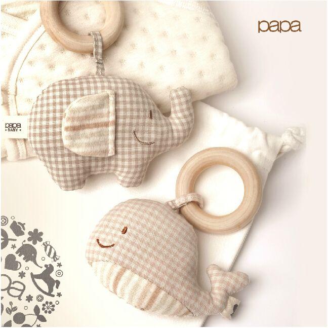 Algodón orgánico del bebé de madera sonajeros y móviles mordedor juguete del bebé juguete en Sonajeros de Juguetes y Aficiones en AliExpress.com | Alibaba Group