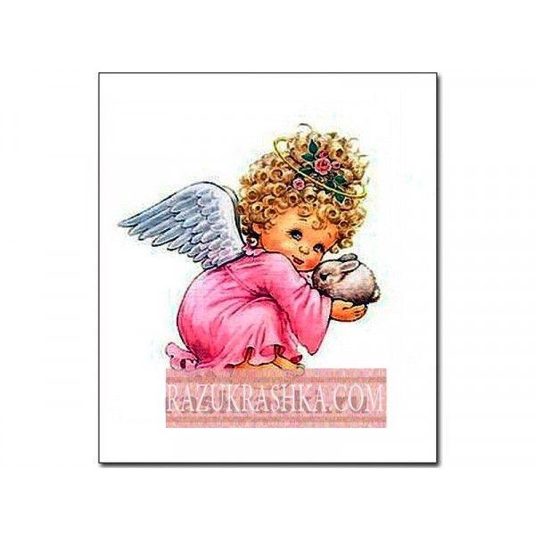 Папертоль «Ангел в розовом». Купить за 150 р. в магазине Разукрашка.