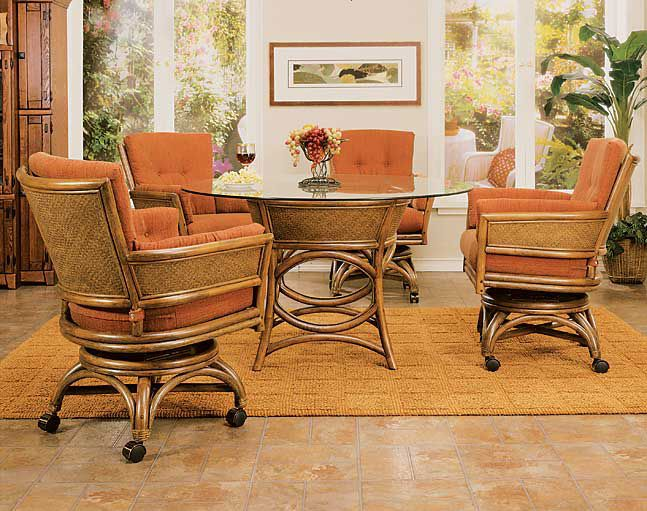 Exceptional Taipei Rattan And Wicker Caster Dining Set, Model From Rattan Specialties  And Worldwide Hospitality Furniture