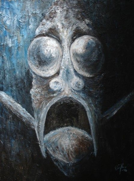 Hatchetfish. Oil on canvas 2016.