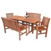 Zahradní nábytek - sestava California, stůl, dvě lavice a dvě křesla, Onpira
