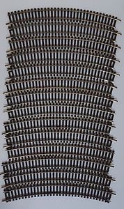 "HO Scale Curve Track Atlas 18"" Black Gold Rails Model Railroad Train Vintage"