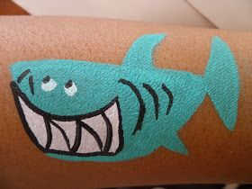 A Day in the Life Of Rachel: Quick Cheek Art: How to Face Paint a Shark