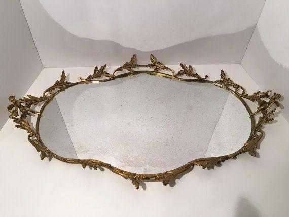 Vintage Ormolu High Quality Filigree/Brass Vanity Tray Dresser Perfume  Mirror Angel Motif Ornate Extra Large Paris Apartment | Vintage, Paris and  Vanities - Vintage Ormolu High Quality Filigree/Brass Vanity Tray Dresser