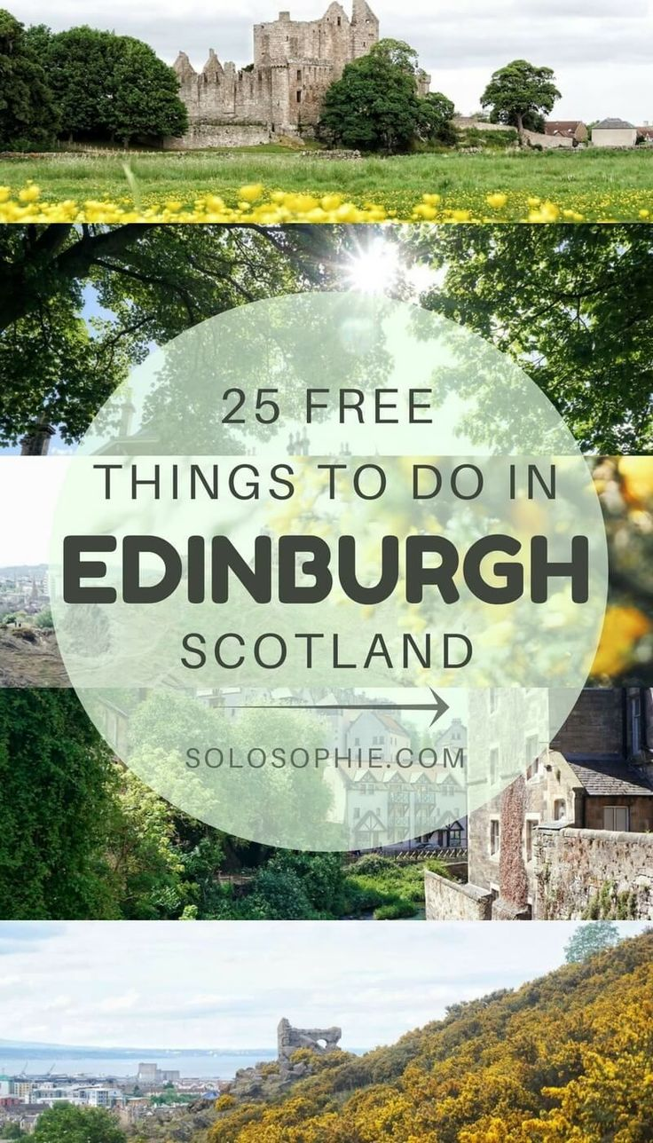 25 free things to do in Edinburgh, Scotland. Activities and places to see for free in the capital of Scotland.