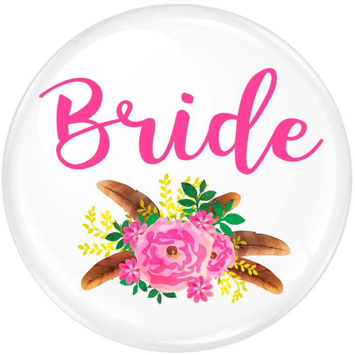 Boho Bride To Be Badge