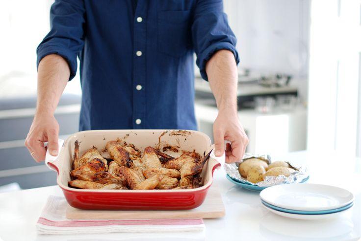 Receta de Alitas de pollo al horno con miel y limón. Un básico para…