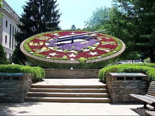 Floral Clock, Frankfort Ky Often passed this when I worked in Frankfort
