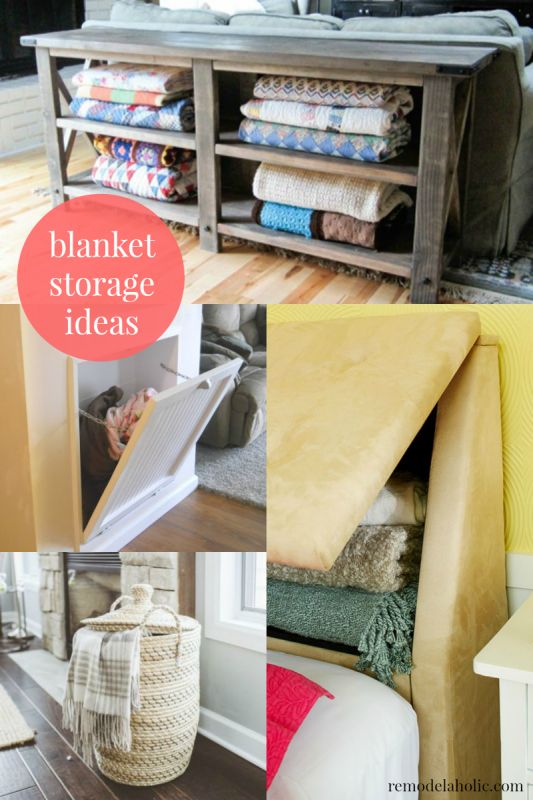Living Room Blanket Storage : Best 25+ Storing blankets ideas on Pinterest  Blanket ...