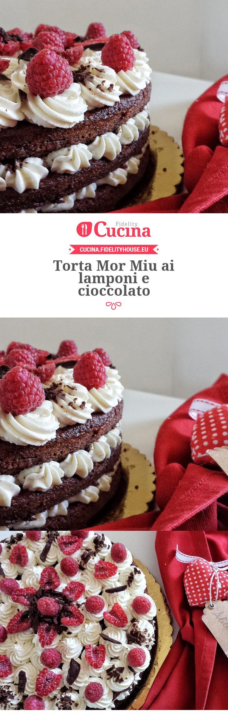 #Torta Mor Miu ai #lamponi e #cioccolato della nostra utente Alice. Unisciti alla nostra Community ed invia le tue ricette!