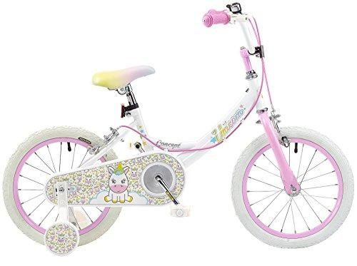 Girls unicorn bike pink white