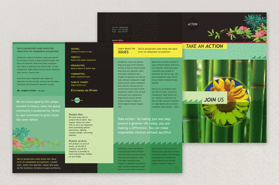 environment brochure template - bright environmental non profit brochure template this