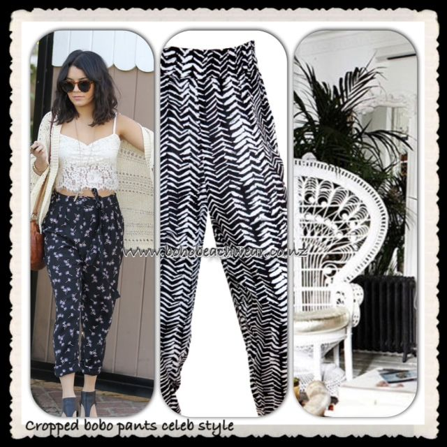 Cropped Boho drape Pants