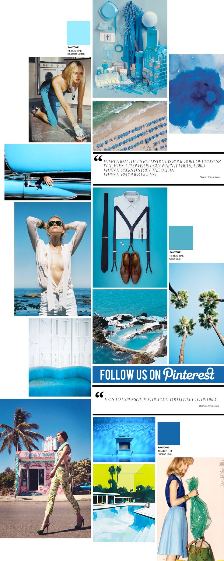 """Pantone color is """"horizon blue"""": Curating the Curated: Ocean Blue 